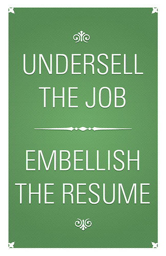 green resume sign